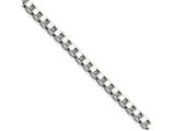 Chisel Stainless Steel 2.4mm 24in Box Chain Necklace style: SRN66424