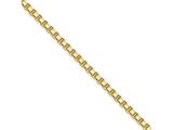 Chisel Stainless Steel Ip Gold-plated 2.4mm 24in Box Chain Necklace style: SRN664GP24