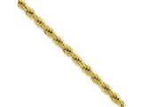 Chisel Stainless Steel Ip Gold-plated 4.0mm 30in Rope Chain Necklace style: SRN673GP30