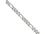 Chisel Stainless Steel 5.30mm 7in Figaro Chain Bracelet style: SRN6797