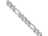 Chisel Stainless Steel 6.30mm 8in Figaro Chain Bracelet style: SRN6808