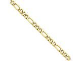 Chisel Stainless Steel Ip Yellow-plated 6.30mm 22in Figaro Chain Necklace style: SRN680GP22