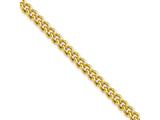 Chisel Stainless Steel Ip Gold-plated 4.0mm 18in Round Curb Chain Necklace style: SRN686GP18