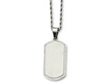 Chisel Stainless Steel Laser Cut Dog Tag Pendant Necklace style: SRN73022