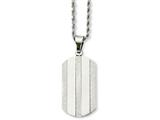 Chisel Stainless Steel Laser Cut Fancy Dog Tag Pendant Necklace style: SRN73122