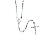 Chisel Stainless Steel 4mm Bead Rosary Necklace style: SRN808
