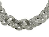 Chisel Stainless Steel Multiple Circles 19in Necklace style: SRN88019