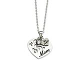 Chisel Stainless Steel Mom With CZ And My Friend Pendant Necklace style: SRN88924
