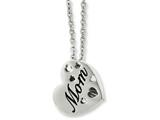 Chisel Stainless Steel Mom Heart Slide Pendant Necklace style: SRN89020