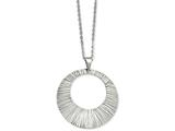 Chisel Stainless Steel Textured Pendant Necklace style: SRN89424