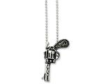 Chisel Stainless Steel Antiqued Pistol Necklace style: SRN89624