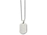 <b>Engravable</b> Chisel Stainless Steel Polished Dog Tag Pendant Necklace style: SRN89724