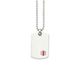 Chisel Stainless Steel Dog Tag Medical Pendant Necklace style: SRN89924