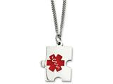 Chisel Stainless Steel Puzzle Piece Medical Pendant Necklace style: SRN90420