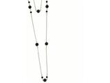 Chisel Stainless Steel Ip Black-plated Beads Draped 36in Necklace style: SRN91736