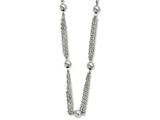 Chisel Stainless Steel Multi-strand W/ Beads 28in Necklace style: SRN91928