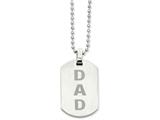 Chisel Stainless Steel Enamel Dad  Dog Tag Necklace style: SRN95824