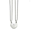 Chisel Stainless Steel Polished 1/2 Heart Necklace Set style: SRSET2920