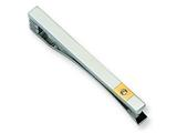 <b>Engravable</b> Chisel Stainless Steel 24k Gold-plating Diamond Accent Tie Clip style: SRT106