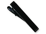 <b>Engravable</b> Chisel Stainless Steel Black-plated Tie Clip style: SRT107