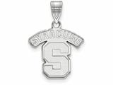 LogoArt Sterling Silver Syracuse University Medium Pendant Necklace style: SS003SYU