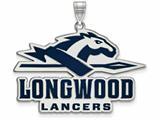 LogoArt Sterling Silver Longwood University Xl Enamel Pendant - Chain Included style: SS013LOC