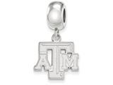 LogoArt Sterling Silver Texas Aandm University Bead Charm Charm Small Dangle Bead Charm style: SS030TAM