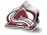 Logoart 925 Sterling Silver Colorado Avalanche a With Avalanche Enameled Extruded Logo Bead style: SS500AVA