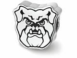 Logoart 925 Sterling Silver Butler University Bulldog Head Enameled Bead style: SS500BUT