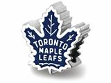 Logoart 925 Sterling Silver Toronto Maple Leafs toronto Maple Leafs On Maple Leaf Enameled Extruded Bead style: SS500MLE