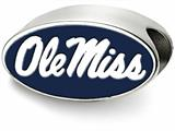 LogoArt Sterling Silver University Of Mississippi Ole Misterling Silver In Oval Enameled Logo Bead Charm style: SS500UMS