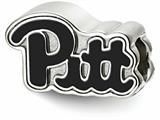 LogoArt Sterling Silver University Of Pittsburgh Pitt Script Enameled Logo Bead Charm style: SS500UPI