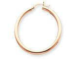 14k Rose Gold 3mm Hoop Earrings style: T1008