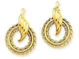 14 kt Yellow Gold Polished Fancy Earring Jackets style: T579J