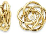 Polished Love Knot Earring Jackets style: T584J