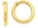 14k Non-pierced Hoop Earrings style: T808