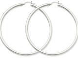 Finejewelers 14k White Gold 3mm Round Hoop Earrings style: T857