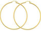 14k Polished 2mm Round Hoop Earrings style: T924