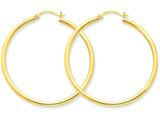 14k Polished 2.5mm Round Hoop Earrings style: T926