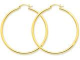 14k Polished 2.5mm Round Hoop Earrings style: T927