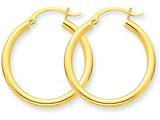 14k Polished 2.5mm Round Hoop Earrings style: T932