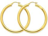 Finejewelers 14k Yellow Gold Polished 4mm X 50mm Tube Hoop Earrings style: T952