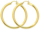 14k Polished 4mm X 55mm Tube Hoop Earrings style: T953
