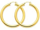 14k Polished 5mm Tube Hoop Earrings style: T957