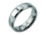 <b>Engravable</b> Chisel Titanium Beveled Edge 6mm Polished Wedding Band style: TB156