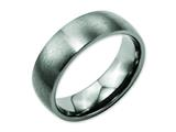 <b>Engravable</b> Chisel Titanium 7mm Brushed Wedding Band style: TB158