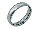 <b>Engravable</b> Chisel Titanium 5mm Polished Wedding Band style: TB159