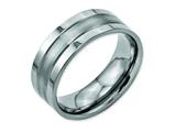 Chisel Titanium Grooved 8mm Brushed And Polished Weeding Band style: TB189