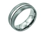 Chisel Titanium Grooved 8mm Brushed And Polished Weeding Band style: TB191