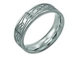 <b>Engravable</b> Chisel Titanium Flat Laser Etched Celtic Knot 6mm Polished Wedding Band style: TB204